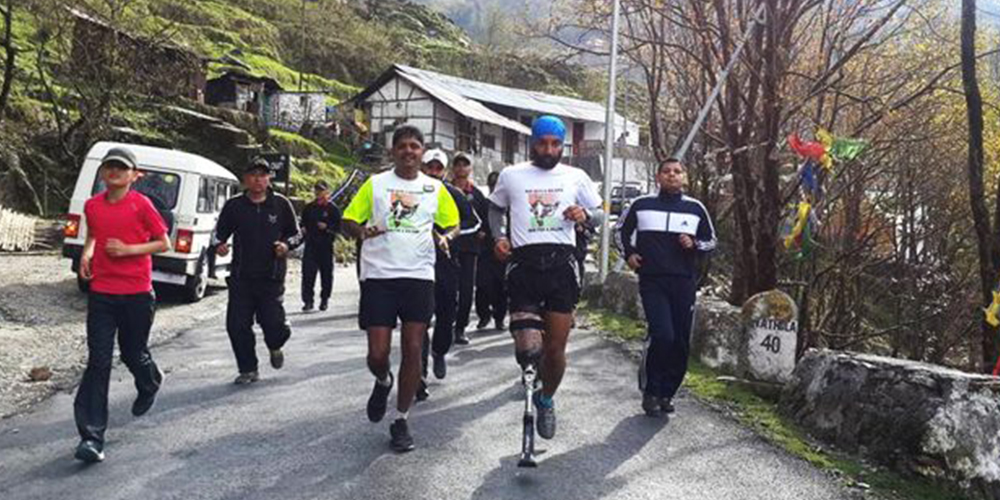 Run with a Soldier for a Soldier Major DP Singh
