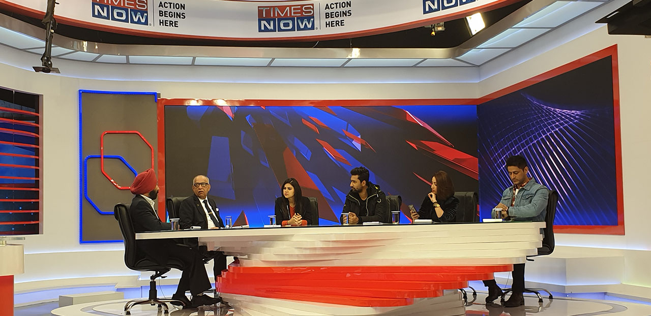 Times Now TV Debate for the URI film