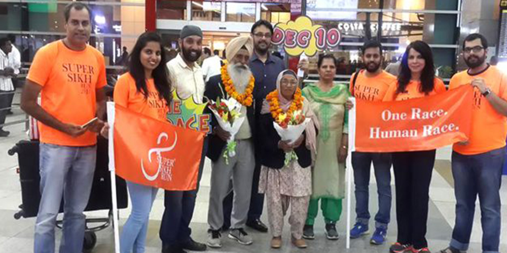 Bibi Maan Kaur with Major DP Singh
