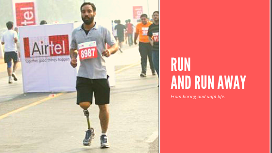 Marathon runner with disability Major Dp singh